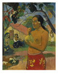 Woman, Holding Fruit (Where Do You Go), 1893 Poster by Paul Gauguin