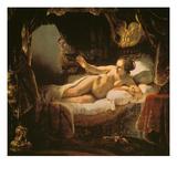 Danae, 1636/1647 Art by  Rembrandt van Rijn