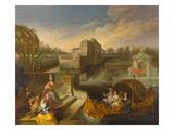 Frühling Giclée-Druck von Jean Antoine Watteau