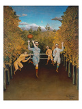 The Football Players, 1908 Impressão giclée por Henri Rousseau