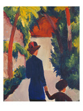Mother and Child in the Park Giclee Print by Auguste Macke