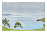Lake Geneva from Chexbres Aus, 1911 Print by Ferdinand Hodler