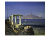 View from Capri across the Gulf of Naples to Mt. Vesuvius, 1868 Giclee Print by Carl Frederick Sorensen