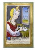 Von Robinet Testard Fuer Louise Von Savoyen. Dido Schreibt an Aeneas Prints