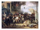 Der Kampf an Der Barrikade in Clichy Am 30.Maerz 1814 Poster von Horace Vernet