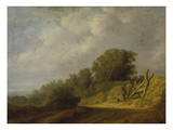 Landscape with a Path Gicl&#233;e-Druck von Salomon van Ruysdael