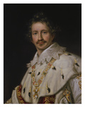 King Ludwig I. of Bavaria in Coronation Regalia (Half-Portrait), about 1826 Giclee Print by Joseph Karl Stieler