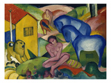 The Dream, 1912 Gicléetryck av Franz Marc