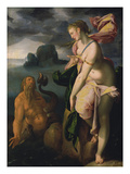 Glaucus and Scylla, about 1581 Giclee Print by Bartholomaeus Spranger