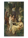 Hafez by a Fountain, 1866 Giclee Print by Anselm Feuerbach