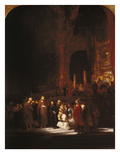 Christ and the Adulteress, 1644 Giclee Print by  Rembrandt van Rijn