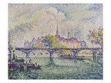 Paris, View of Ile De La Cité, 1913 Konst av Paul Signac