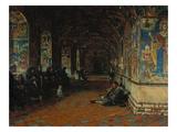 Vorhalle D. Johannes-Verkuendigungskirche in Toltschkow (Jaroslawl), 1888 Giclee Print by Wassili Werestschagin