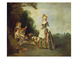 The Dance (Or: Iris), about 1719 Art by Jean Antoine Watteau