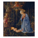 Madonna Worshipping the Child, about 1459 Giclée-tryk af Fra Filippo Lippi