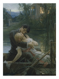Lovers in a Boat Giclee Print by Max Pirner