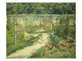 Bench in a Flowering Garden Prints by Edouard Manet