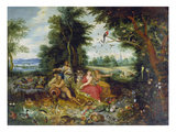 The Four Elements Giclee Print by Jan van Kessel