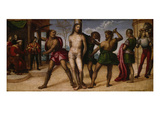 The Castigation of Christ, about 1510 Giclée-tryk af Giovanni Antonio Bazzi Sodoma