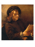 Titus, the Artist's Son, Reading, about 1656/57 Giclee Print by  Rembrandt van Rijn
