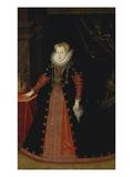 Koenigin Anna Von Polen, Gemahlin Sigismund III. Von Polen Giclée-tryk af German School