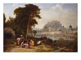 Blick Auf Salzburg Mit Waescherinnen Im Vordergrund, 1842 Giclee Print by Philip Hutchins Rogers