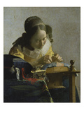 The Lacemaker, about 1665 Art by Jan Vermeer
