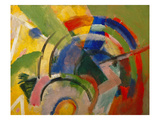 Small Composition Iv, 1914 Giclee Print by Franz Marc