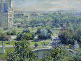 View of the Tuileries Gardens, Paris, 1876 Giclée-tryk af Claude Monet