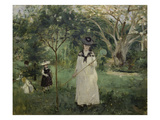 The Butterfly Hunt (The Artist's Sister with Her Children), 1874 Prints by Berthe Morisot