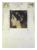 Fair Drawing for the Allegory Junius 1896 Reproduction procédé giclée par Gustav Klimt
