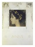 Gustav Klimt - Fair Drawing for the Allegory Junius 1896 Digitálně vytištěná reprodukce