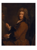 Selbstbildnis Vor Der Staffelei, Um 1720 Giclée-Druck von Joseph Vivien