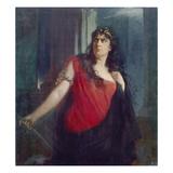 Clara Ziegler as Medea, 1898 Giclee Print by Rudolf Wimmer