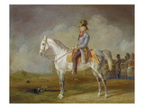 Count Radetzky on Horseback Giclee Print by Albrecht Adam