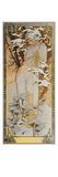 Jahreszeiten: Der Winter, 1900 Giclée-tryk af Alphonse Mucha
