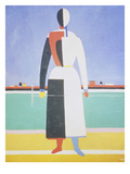 Woman with a Rake, 1915 Giclee Print by Kasimir Malevich