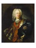 Herzog Eberhard Ludwig Von Wuerttemberg Um 1730 Giclée-tryk af German School