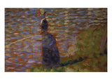 Angler at the Riverside of the Seine. Study for 'La Grande Jatte', 1884/85 Giclee Print by Georges Seurat