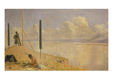 Kirgisische Reiter Ueberfallen Ein Expeditionscorps, 1871 Giclee Print by Wassili Werestschagin