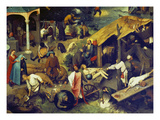 Netherlandish Proverbs. (Detail Bottom Right), 1559 Giclée-Druck von Pieter Bruegel the Elder