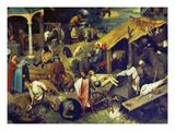 Netherlandish Proverbs. (Detail Bottom Right), 1559 Prints by Pieter Bruegel the Elder