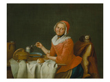 Woman Eating Soup Prints by Peter Jacob Horemans