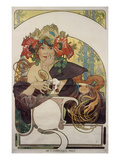 Poster Advertising 'Bieres De La Meuse', about 1897 Giclee Print by Alphonse Mucha