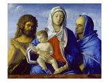 Madonna and Child with Sts. John the Baptist and Elizabeth Posters by Giovanni Bellini