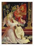 Isenheimer Altar. Zweite Schauseite, Mittelbild: Detail Aus Engelskonzert Art by Matthias Grünewald