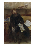 Portrait of the Poet Peter Hille, 1902 Posters by Lovis Corinth
