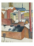 Marienkirche Im Schnee, 1911 Prints by Auguste Macke