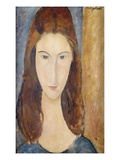 Jeanne Hebuterne Gicleetryck av Amedeo Modigliani