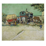 The Caravans, Gypsy Camp Near Arles (Les Roulottes / Campement De Bohémiens), 1888 Prints by Vincent van Gogh